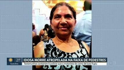 Idosa morre atropelada por carro de luxo na faixa de pedestres