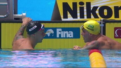 Bruno Fratus é prata nos 50m livres e Caeleb Dressel leva o ouro