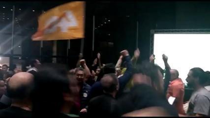 Avanço do candidato Márcio França (PSB) é comemorado por apoiadores