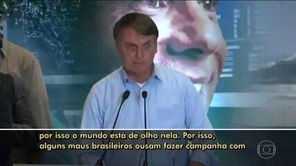 Presidente Jair Bolsonaro defende exploração da Amazônia