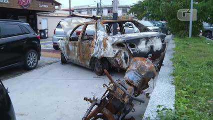 Veículos de vigias do ES são encontrados carbonizados em São Pedro da Aldeia, no RJ