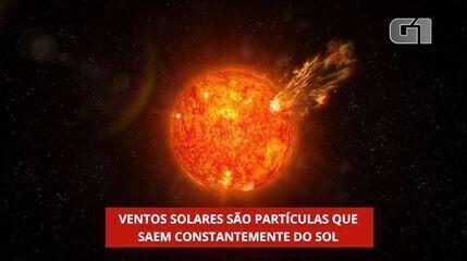 Ventos solares são partículas que saem constantemente do Sol