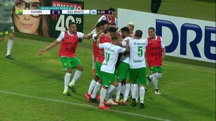 Melhores momentos de Cuiabá 3 x 2 São Bento pela 15ª rodada da Série B do Campeonato Brasileiro