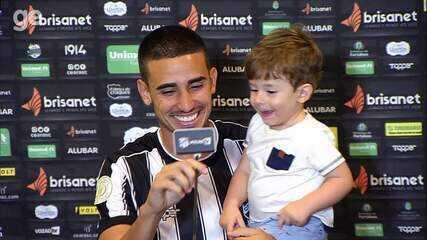 Filho de Thiago Galhardo rouba a cena em entrevista