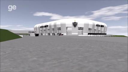 Imagens exclusivas do projeto do estádio do Atlético-MG