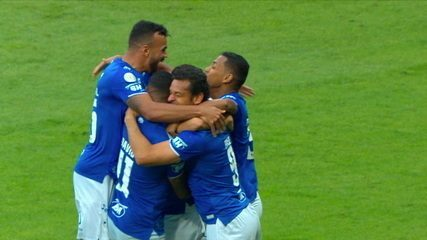 Gol do Cruzeiro! Thiago Neves chuta de fora da área e amplia, a 1' do 2º Tempo
