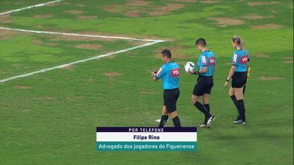 Advogado dos jogadores do Figueirense, Filipe Rino explica a situação do clube