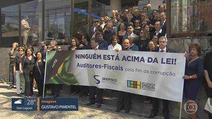 Servidores da Receita Federal se manifestam em Belo Horizonte