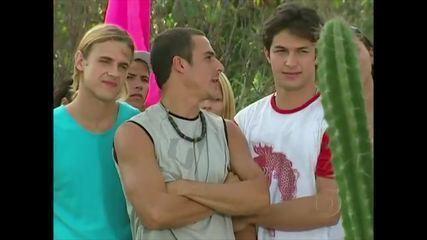 Sergio Guizé, Romulo Estrela e Thiago Martins em 'Da Cor do Pecado'