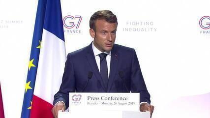 G7 anuncia ajuda para a Amazônia e Macron critica comentários de Bolsonaro sobre primeira-dama francesa