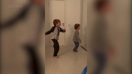 Regiane Alves mostra filhos empolgados com coreografia no Dança dos Famosos