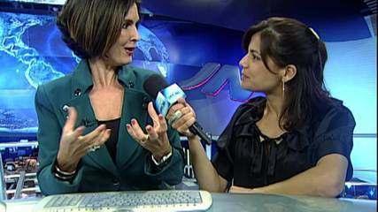 Nivea Stelmann mostra os bastidores do 'Jornal Nacional'