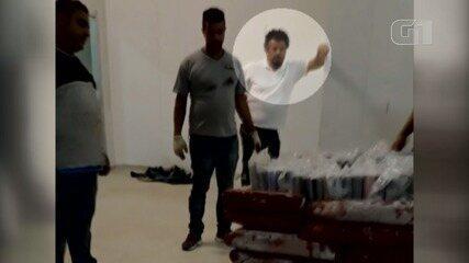 Empresário foi flagrado em vídeo em que remessa de cocaína é escondida