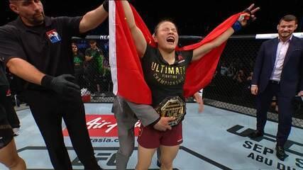 Melhores Momentos da luta entre Jéssica Bate-Estaca x Weili Zhang no UFC Shenzhen