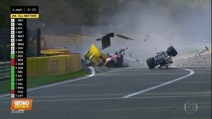 Gravíssimo acidente na disputa da etapa da Bélgica da Fórmula 2