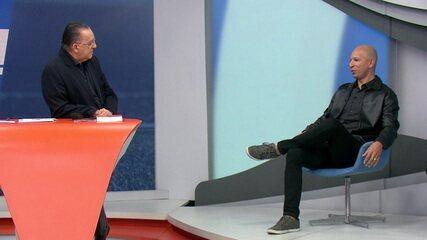 """Galvão apresenta novo comentarista do Esporte Grupo Globo, Fábio Júnior: """"Artilheiro dos três maiores de Minas"""""""