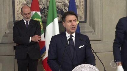 Primeiro-ministro anuncia formação de novo governo na Itália