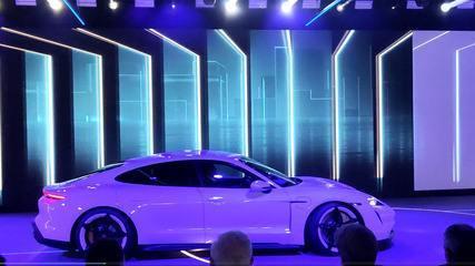 G1 mostra o Porsche Taycan, primeiro carro elétrico da marca
