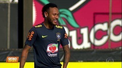 Seleção: Neymar treina como titular de Tite para o amistoso de sexta-feira