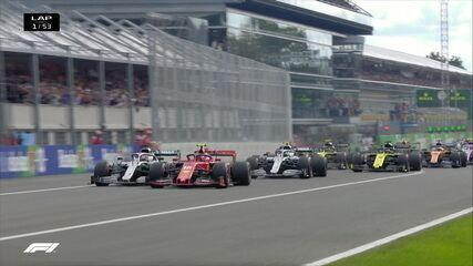 Confira a largada do GP de Monza da Fórmula 1