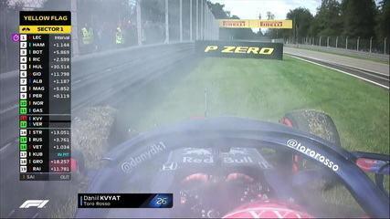 Kvyat abandona o GP de Monza