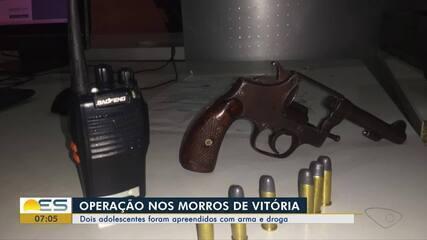Dois adolescentes são apreendidos em operação nos Morros de Vitória