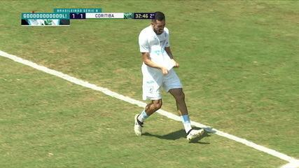 Gol do Londrina! Zaga vacila e Anderson Leite marca no jogo contra o Coritiba