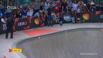Misugu Okamoto fatura o ouro no Campeonato Mundial de Skate Park em São Paulo