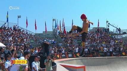 Heimana Reynolds é campeão do Campeonato Mundial de skate Park em São Paulo