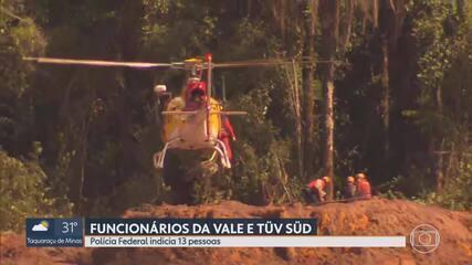 PF indicia 13 funcionários da Vale e da TÜV SÜD