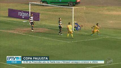 XV de Piracicaba perde de virada para o Mirassol pela Copa Paulista