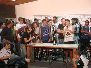 Coletiva do Botafogo após o jogo contra o Flamengo, pela decisão da Taça Guanabara