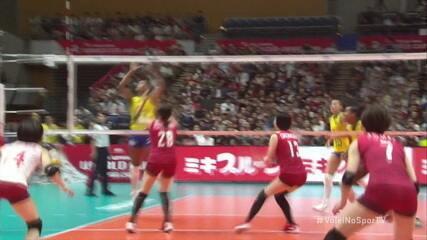 Melhores momentos de Japão 0x3 Brasil pela Copa do Mundo Feminina de Vôlei