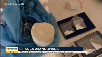 Casal é preso suspeito de abandonar criança deficiente em casa de Goiânia