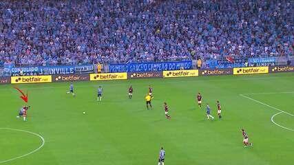 Veja o lance em que Arrascaeta lesiona o joelho contra o Grêmio