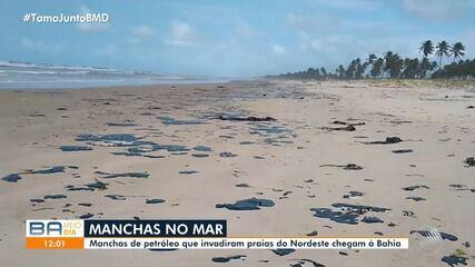 Manchas de óleo aparecem em praias do Nordeste e chegam ao litoral baiano