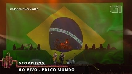 "Scorpions canta ""Cidade Maravilhosa"" no Palco Mundo"