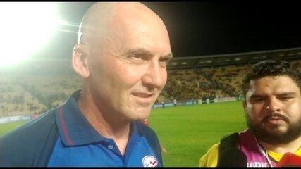 Dal Pozzo fala da conquista da Série C após o jogo, no Castelão, em São Luís