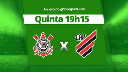 Onde e como assistir a Corinthians x Athletico-PR, ao vivo, pelo Campeonato Brasileiro