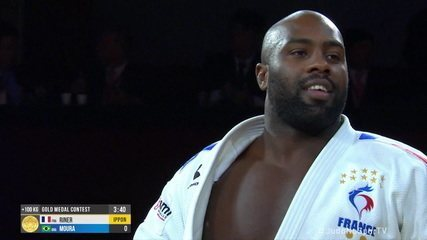 David Moura perde para Teddy Riner na disputa do ouro na categoria +100kg