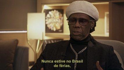 Nile Rodgers conta qual imagem que ele guarda do Brasil
