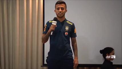 Matheus Henrique conta história hilária em trote da Seleção