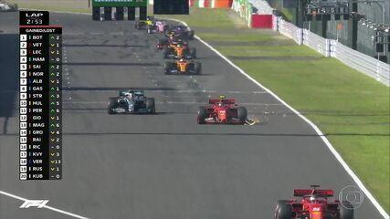Com problemas no carro, Leclerc sofre pressão de Hamilton