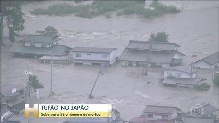 No Japão, tufão muito forte devasta várias regiões do país nesse fim de semana
