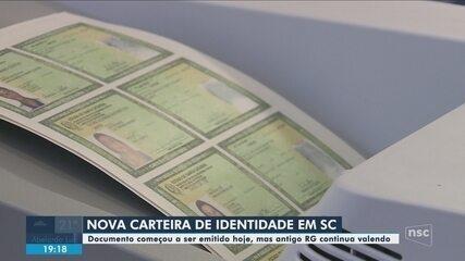 Novo modelo de carteira de identidade começa a ser emitido em SC; conheça