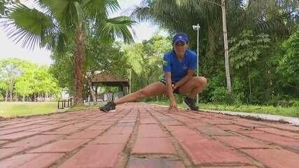 Rosângela Oliveira faz últimos treinos antes de competir na Meia Maratona de Manaus (AM)