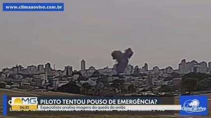 Especialista analisa imagens da queda do avião