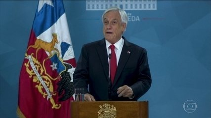 Presidente do Chile anuncia pacote de medidas para tentar conter protestos