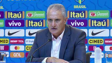 Tite comenta últimos resultados da Seleção Brasileira sem vitórias