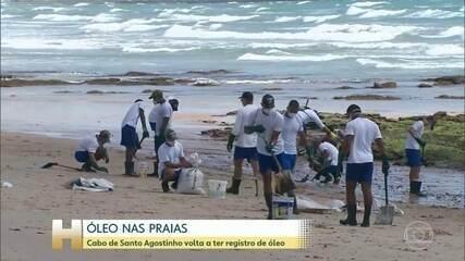 Óleo volta a atingir praias do Cabo de Santo Agostinho (PE)